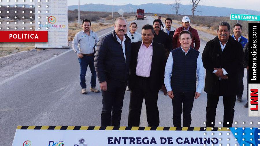 José Rosas Aispuro entrega 230 millones para obras carreteras en Durango