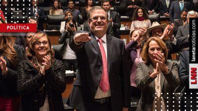Senado ratifica a Marcelo Ebrard como titular de la SRE