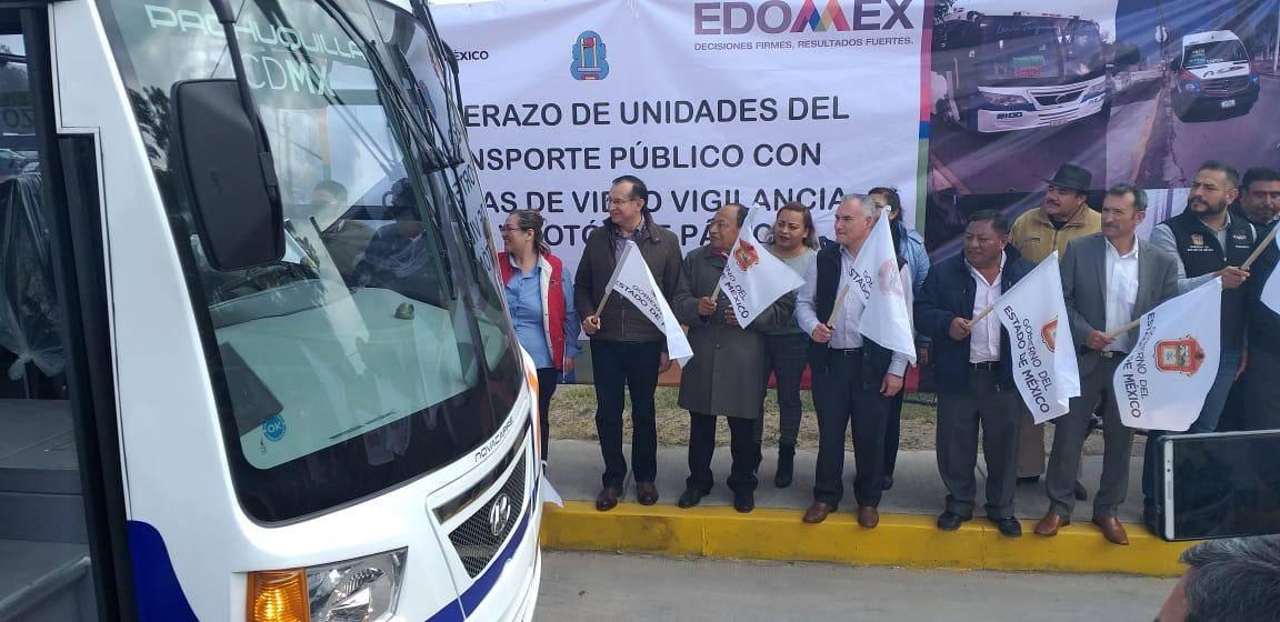 Edomex equipa 32 mil unidades de transporte público con sistema de seguridad
