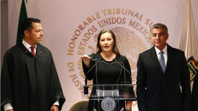 Martha Erika rinde protesta como gobernadora de Puebla ante el TSJ