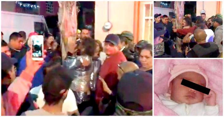 Intentan linchar a mujer acusada de robarse a bebé; culpables escapan (VIDEO)