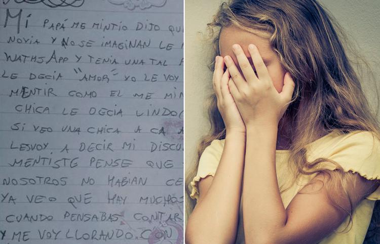 Descubre en WhatsApp que su papá tiene novia y escribe conmovedora carta
