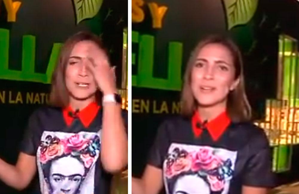 Reportera se equivoca y da gracias porque le abrieron ¿las piernas? (VIDEO)