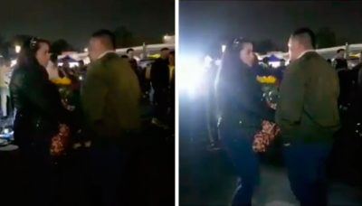 <i>Soldado caído</i>: Pide matrimonio en la Final de la Liga MX y lo batean (VIDEO)