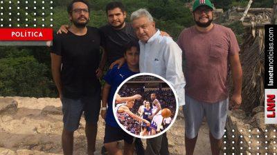 Basquetbol y gasolina: desenmascaran noticia falsa contra el hijo de AMLO