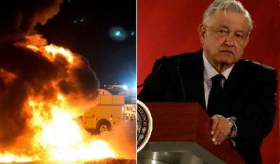 Tunden en redes a políticos que culpan a AMLO por explosión en Hidalgo