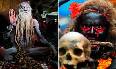 Aghoris: la secta caníbal que anda desnuda y utiliza cráneos como platos