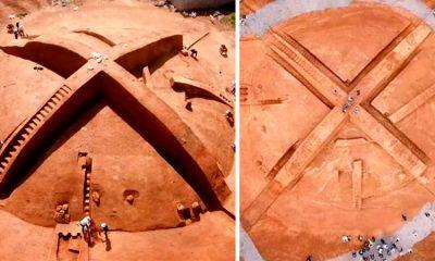 Extraña tumba en forma de X desconcierta a la humanidad