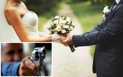 Novia recibe balazo durante su boda, va al hospital y regresa para casarse