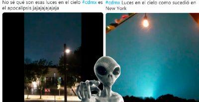 ¿Sismo u ovnis? Extrañas luces en la Ciudad de México desconciertan la red