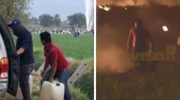 ¡Me estoy muriendo!: las palabras de sujeto quemado en explosión de ducto