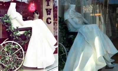Tienda de novias causa sensación por maniquí en silla de ruedas