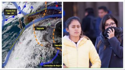 Anuncian que frente frío 29 provocará temperaturas bajo cero en el país