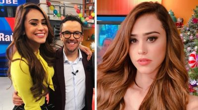 Cachan en la movida a Mauricio Mancera y Yanet García afuera de Televisa