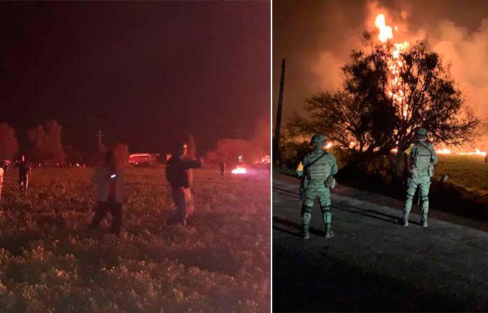 Mira las imágenes más impactantes de la explosión de toma clandestina en Hidalgo