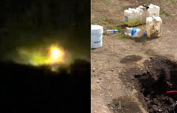 Otra tragedia: se incendia toma clandestina de combustible en Querétaro
