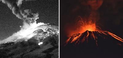 Alerta en el Popocatépetl: reportan fuerte explosión y caída de ceniza