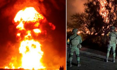 Filtran fotos de rostros diabólicos en llamas de la explosión en Hidalgo