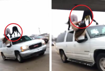 Polémica en redes por intenso perreo de chicas sobre auto en movimiento (VIDEO)