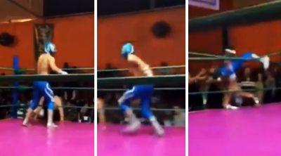 Estremece brutal fractura de luchador mexicano en el cuadrilátero