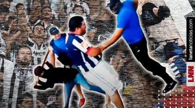 Abrazos, no tablazos: graban brutal castigo a aficionado en Monterrey