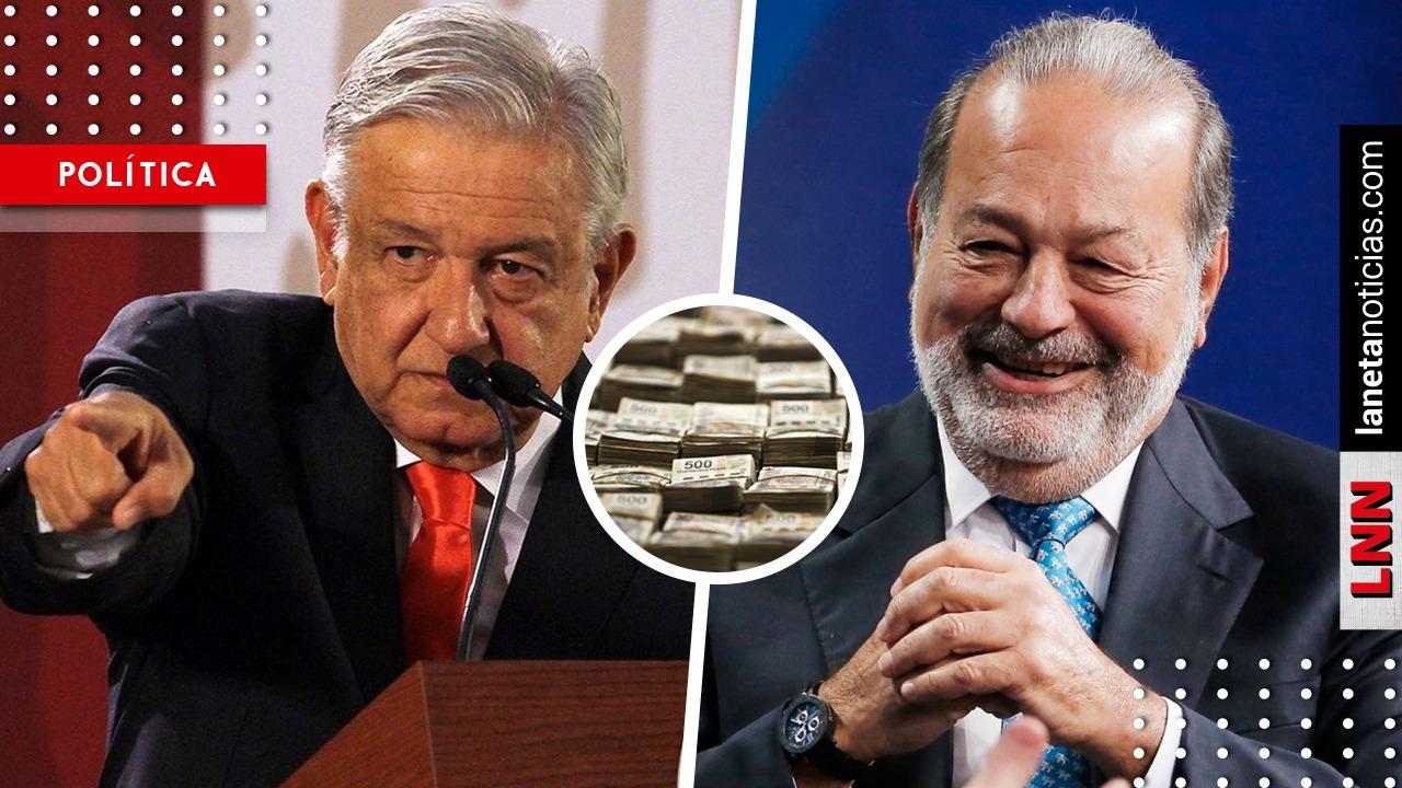 ¡Sin temor! AMLO acusa a Slim por firmar contrato millonario con la CFE de Peña