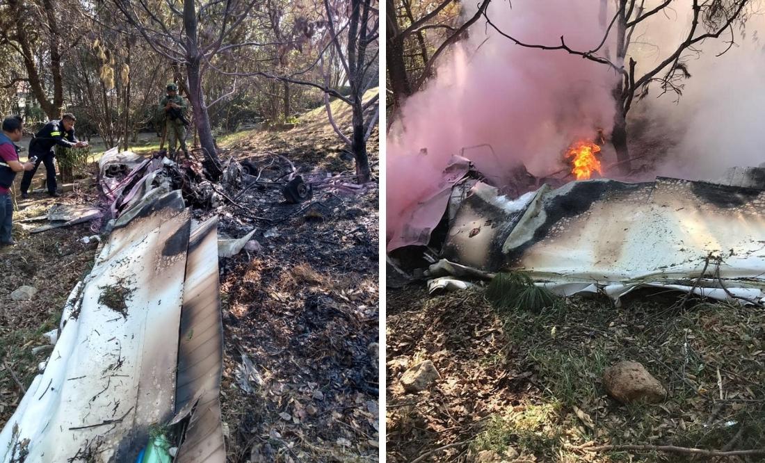 Tragedia en Atizapán: avioneta se desploma; reportan dos muertos
