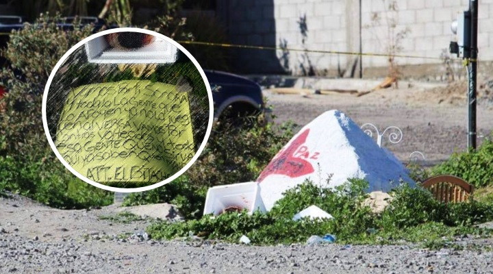 Estremece hallazgo de cabeza humana con narcomensaje del CTNG en Tijuana