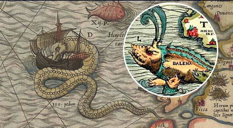 Unicornios y monstruos marinos: las inquietantes figuras de mapas antiguos