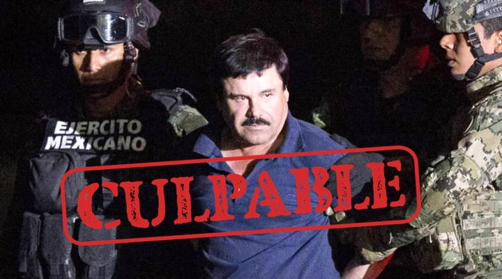 Jurado dicta sentencia a El Chapo Guzmán por narcotráfico