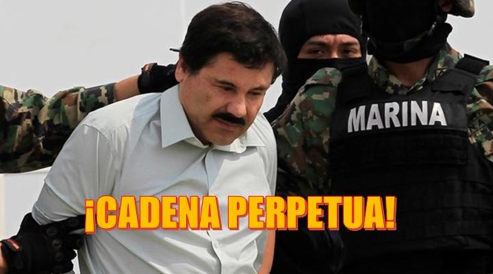 Dictan sentencia a El Chapo tras ser declarado culpable por narcotráfico