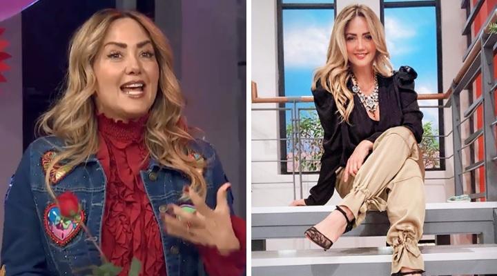 Andrea Legarreta celebra al amor luciendo sensual minifalda en tacón de aguja