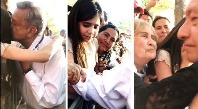 Conmueve emotiva reacción de niña tras conocer a AMLO en Durango