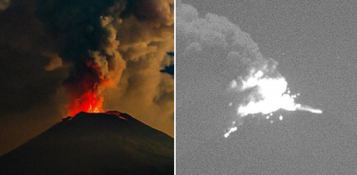 Continúan explosiones del Popocatépetl; difunden actividad en vivo