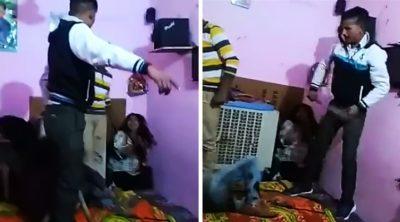 Encuentra a esposa poniéndole el cuerno; graba brutal castigo para el amante
