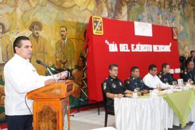 Michoacán está de pie gracias al apoyo del Ejército Mexicano: Silvano Aureoles