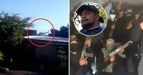 Difunden video del presunto rescate de El Gordo Viagra, acorralado por el CJNG