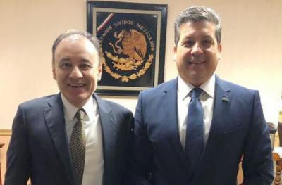 Francisco García y titulares de Sedena, Semar y SSPC dialogan en Palacio Nacional