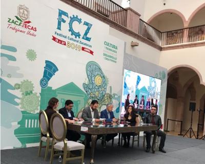 Alejandro Tello asiste a presentación del Festival Cultural Zacatecas 2019