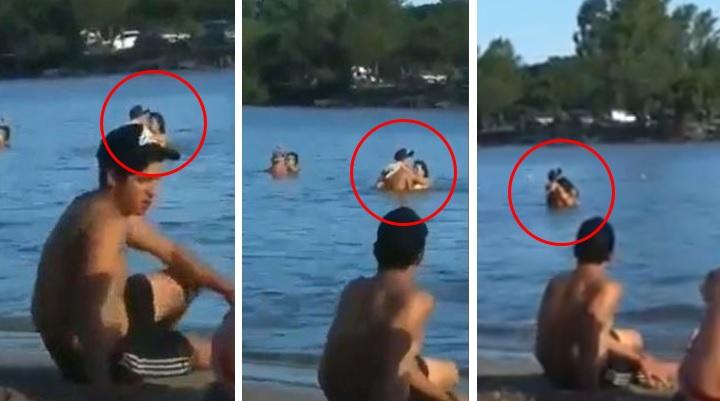 Los graban teniendo relaciones en la playa; testigos terminan aplaudiéndoles