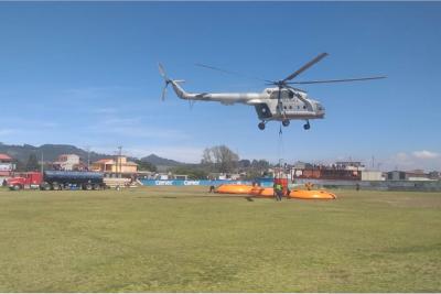 Semar activa Plan Marina ante incendio en Las Vigas, Veracruz