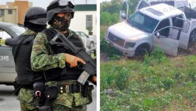 Exhiben imágenes de sicarios abatidos tras enfrentamiento con la Policía