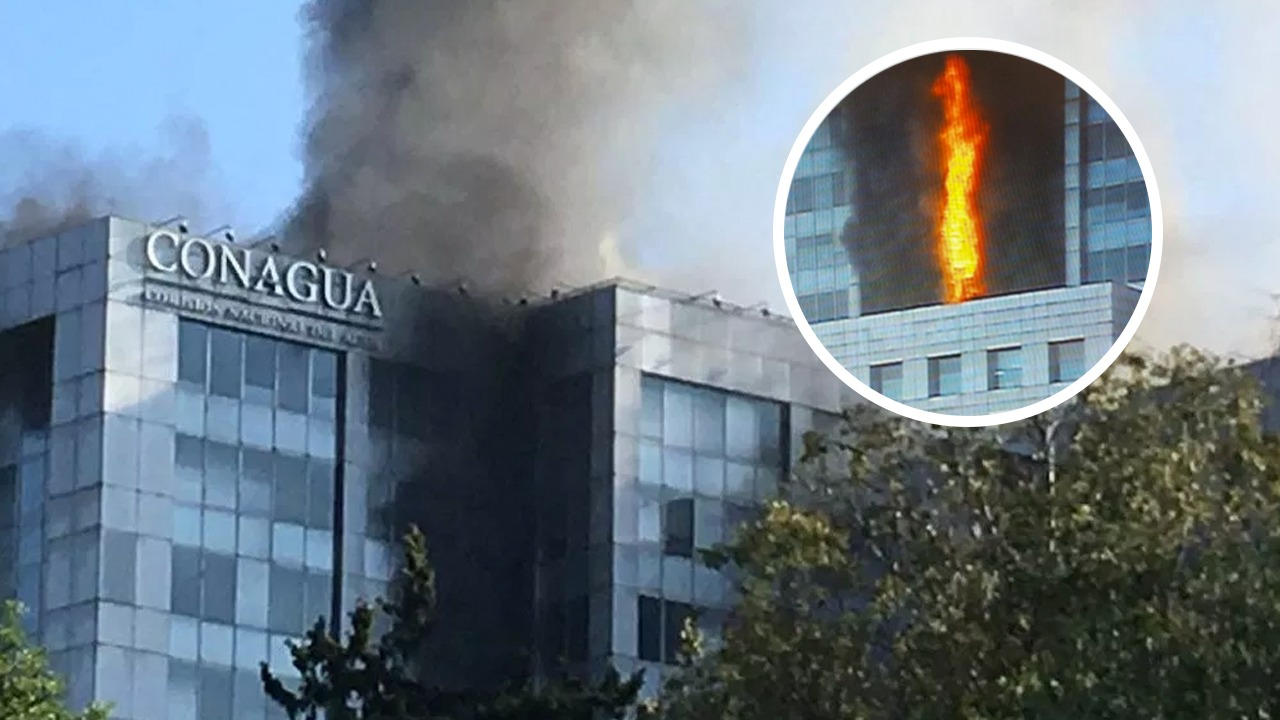 Se registra incendio en el edificio de Conagua en la CDMX