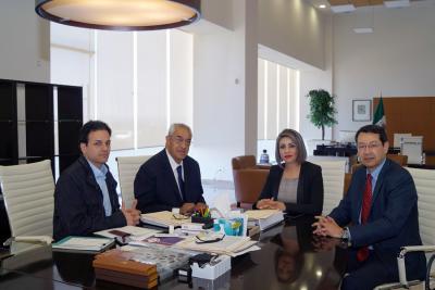 Guillermo Pacheco y CFE acuerdan convenio para alumbrar la Vía Atlixcáyotl