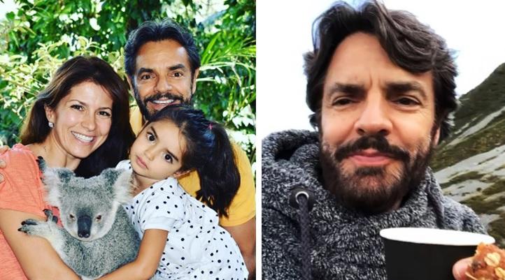 Critican a hija de Eugenio Derbez por señal obscena en foto con su padre