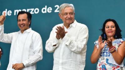 No nos vamos a pelear con Estados Unidos; amor y paz: AMLO en Poza Rica