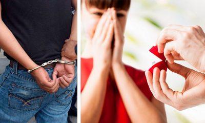 Pide matrimonio a su pareja cuando estaba arrodillado y sometido por policías