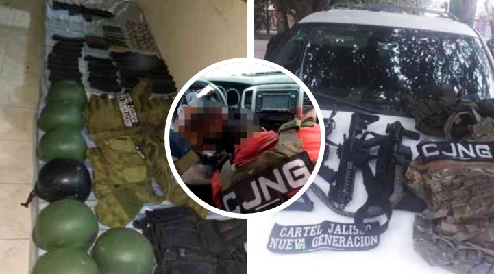 Sicarios abatidos y decomisos: las imágenes del golpe al CJNG en Veracruz