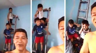 Se partieron su madr…: se hace viral por burlarse de sus hijos tras accidente