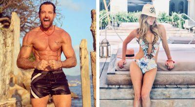 Geraldine Bazán y Gabriel Soto olvidan la polémica disfrutando de la playa